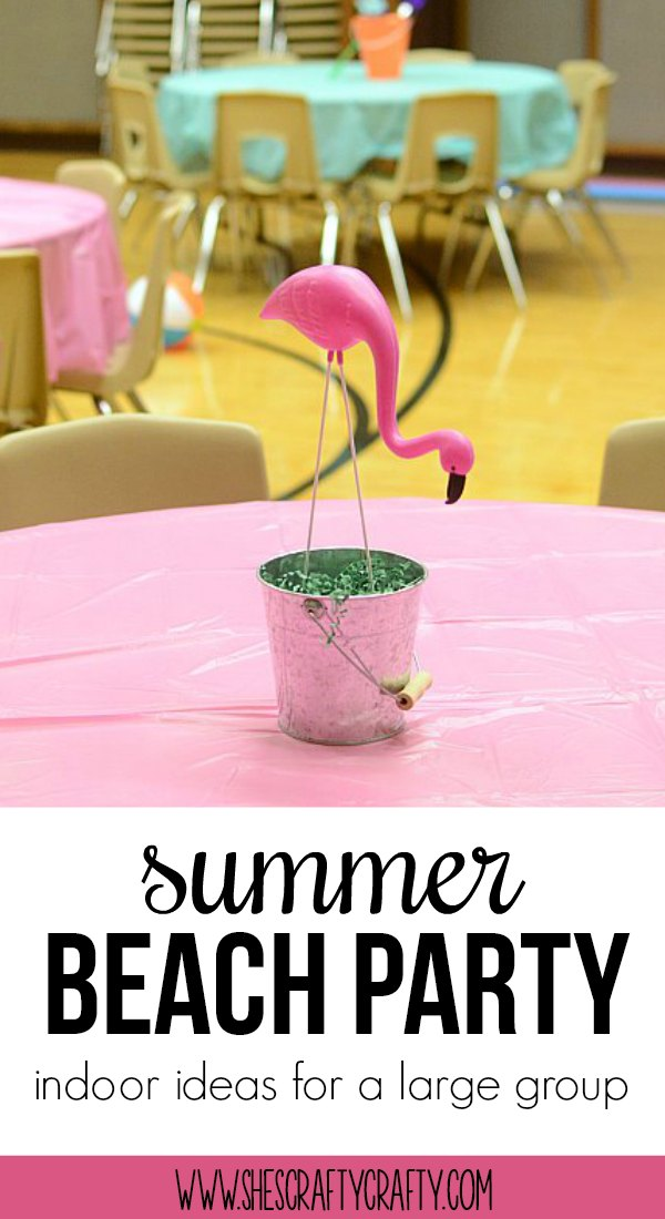 flamingo, colorful, beach ball, sand bucket, party