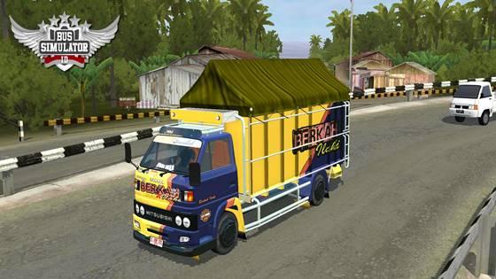 mod bussid truck umplung terpal segitiga