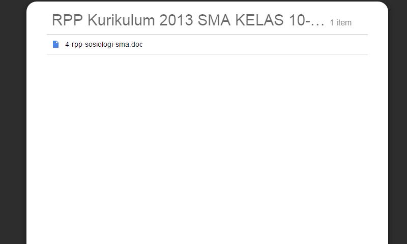New Revisi Rpp Kurikulum 2013 SMA Kelas 10-11-12 Sosiologi SMA LengkapTerbaru