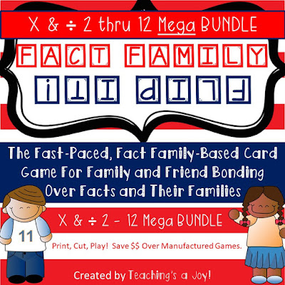 Fact Family Flip It! is available in separate sets or in bundles.