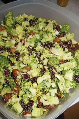Easy to make ahead, Broccoli Salad with a Curry Dressing. .