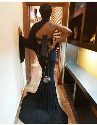 Ladies, how do you rate this all black look by Kate Henshaw?