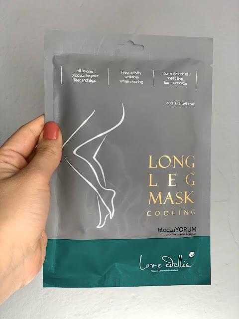Love Edellis Long Leg Mask Bacak Maskesi limonian