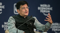 Piyush Goyal, Indian minister of power, coal, new and renewable energy and mines (Pic Credit: World Economic Forum/Flickr) Click to Enlarge.