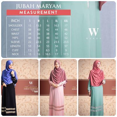 Varian warna Jubah Maryam