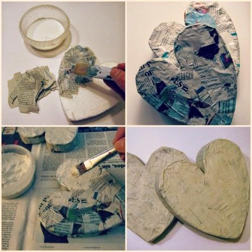 Propiedades como hacer un corazón de papel maché