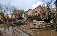 Kebakaran Terjadi di Dusun Jala, Tiga Unit Rumah Warga Rata dengan Tanah