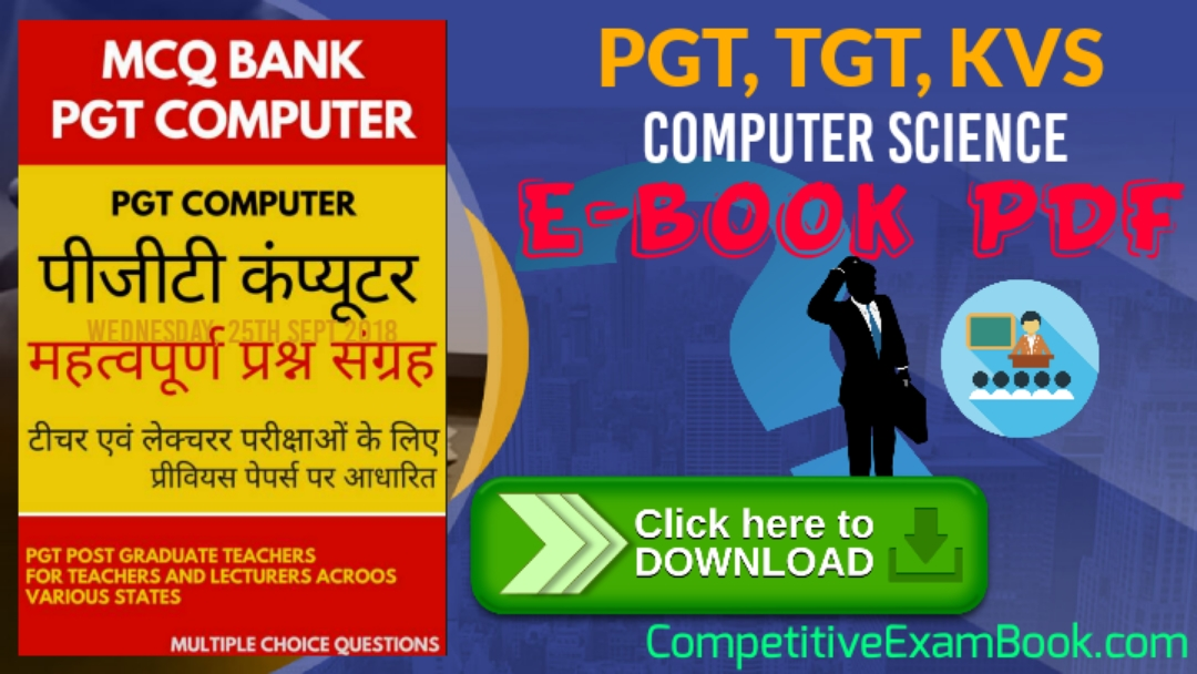 TGT, PGT Computer Science eBook PDF In English - My Gk Notes