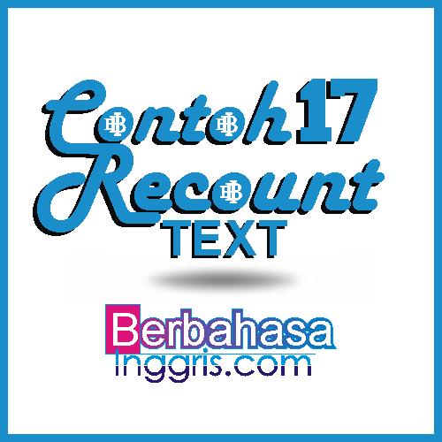 17 Contoh Recount Text Tentang Pengalaman Pribadi Liburan Dan