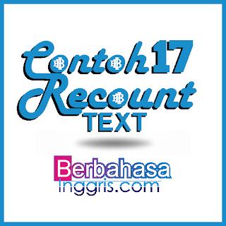 17 Contoh Recount Text Tentang Pengalaman Pribadi dan Artinya (Full Materi dan Generic Structure)