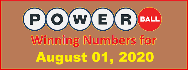 PowerBall Winning Numbers for Saturday, August 01, 2020