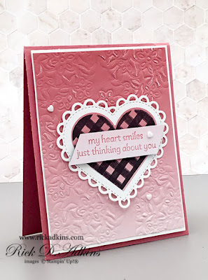The Lots of Hearts Bundle makes my Heart Smiles card is part of this weeks Creative Challenge at The Spot Challenge Blog click to learn more
