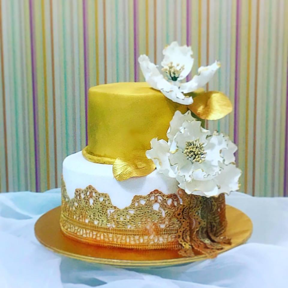 Home Bakery Bangi - Kajang: Wedding Cake Gold