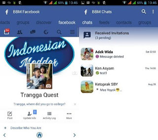 BBM Mod Simple BLue FBUI v3.0.1.25 apk