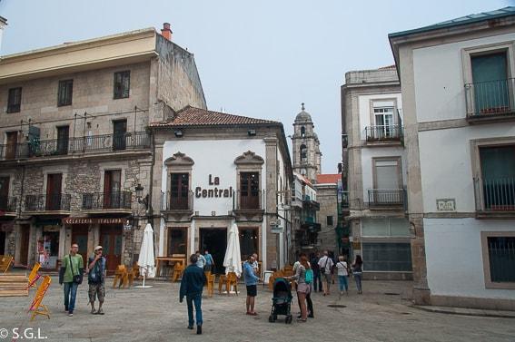 Plaza de la constitucion en Vigo. Galicia