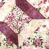 Pink Floral Quilt close up