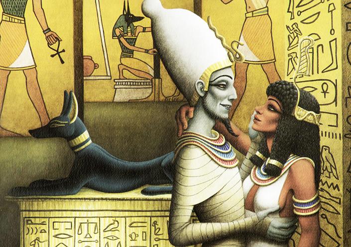 mitoloji, mısır mitolojisi, Osiris, Osirisin çocukları, osirisin ölümsüzlüğü, anubisin babasını diriltmesi, setin planı, büyülü tabut, diriliş tanrısı, ölüm yargıcı, din ve mitoloji