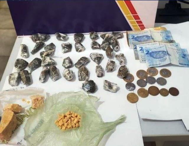 Suspeito corre ao ver viatura e é detido com droga em Diamantino