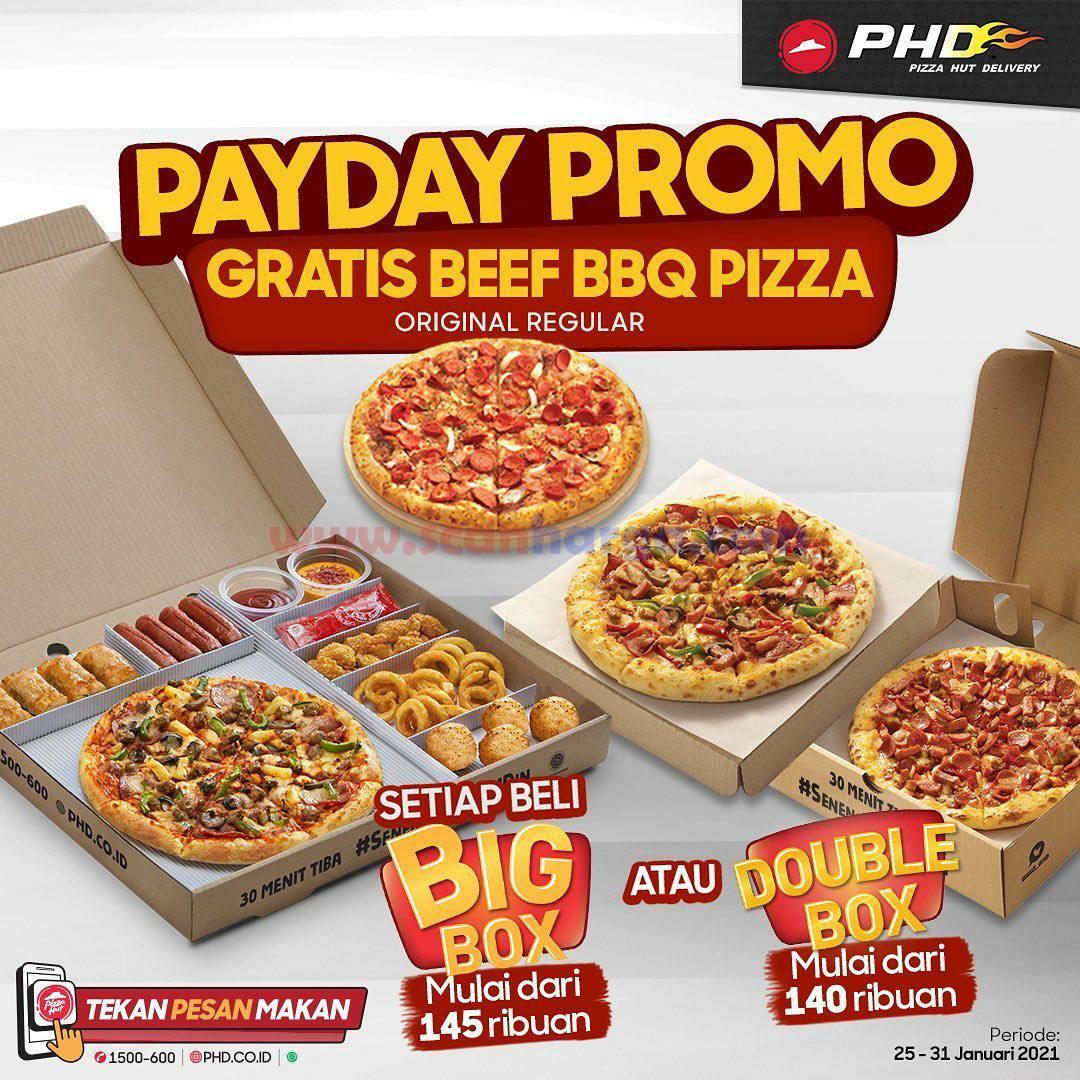 PHD Spesial PAYDAY! Promo BELI BIG BOX atau DOUBLE BOX GRATIS BEEF BBQ Pizza Regular
