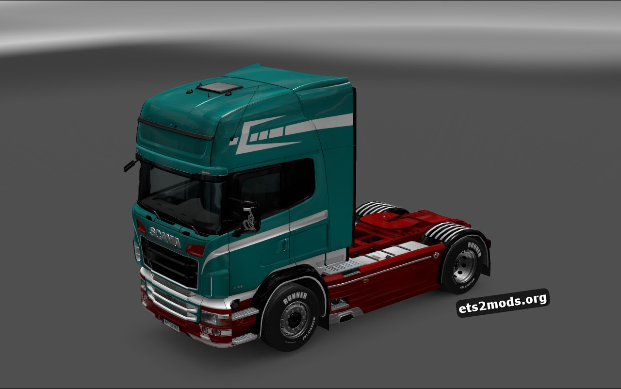 Red Beauty Skin for Scania RJL