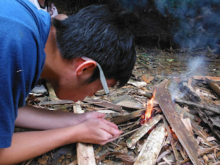 best way to build a campfire in the tropics