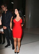 Ariel Winter In Red Dress Leaving Nightclub Los Angeles