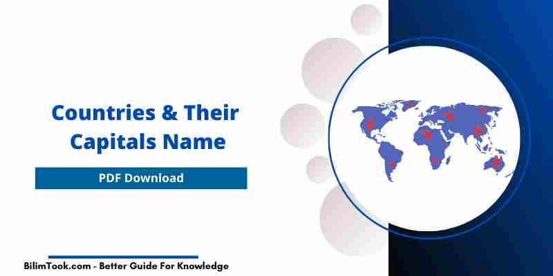 Countries and their Capitals Name List PDF