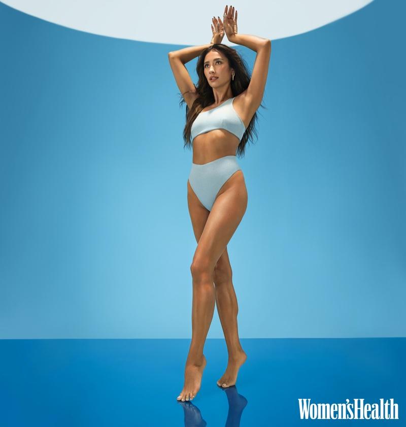 Shay Mitchell poses in Sara Cristina swimsuit