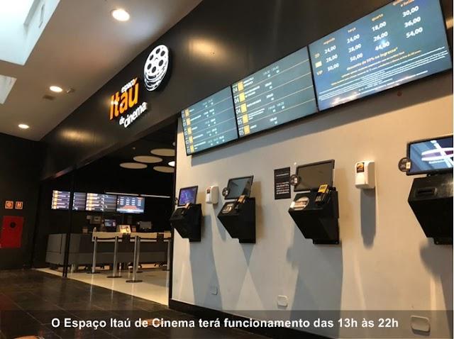 Espaço Itaú de Cinema do Shopping Crystal é reaberto ao público