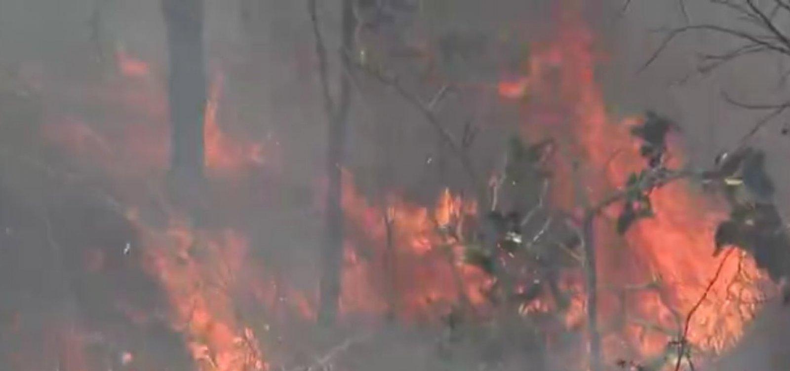 Incêndio na Serra da Bandeira chega perto do aeroporto de Barreiras