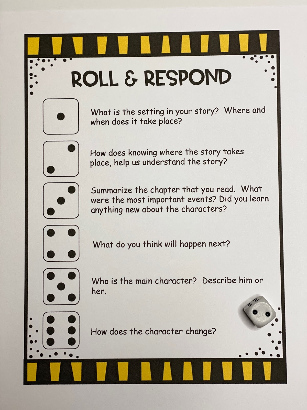 small resolution of An Apple For The Teacher: Roll and Retell - Building Summarizing