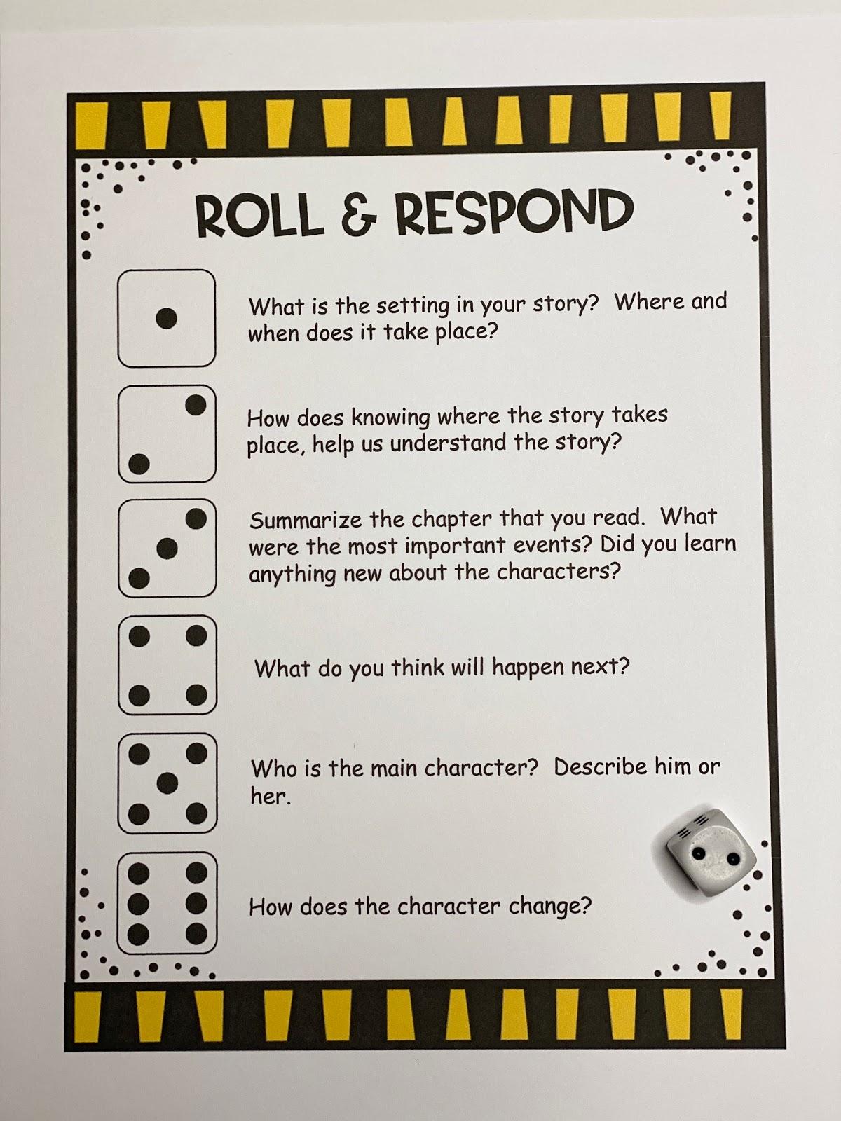 medium resolution of An Apple For The Teacher: Roll and Retell - Building Summarizing