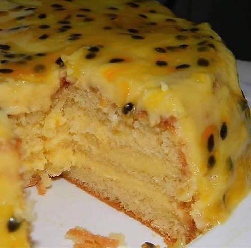 Torta Gelada de Maracujá