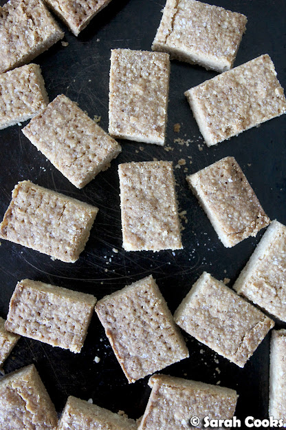 Brown Butter Brown Sugar Salted Shortbread
