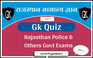 Rajasthan police Gk quiz