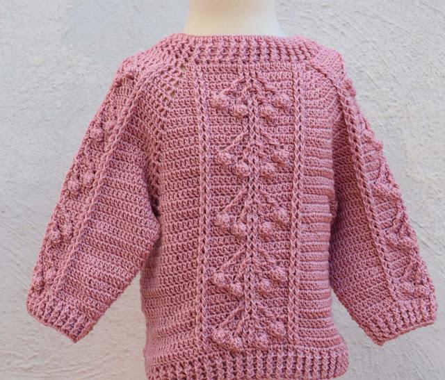 3-Crochet Imagen Jersey con punto relieve especial invierno por Majovel Crochet