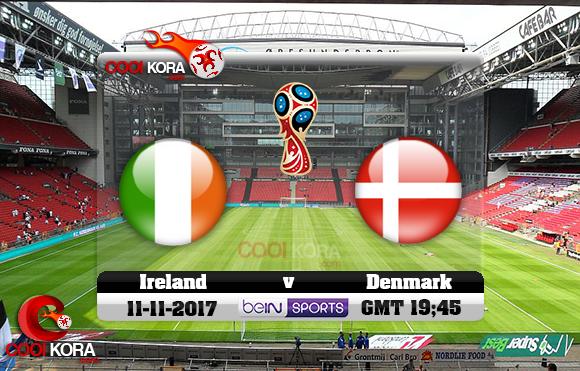 مشاهدة مباراة الدنمارك وإيرلندا اليوم 11-11-2017 تصفيات كأس العالم