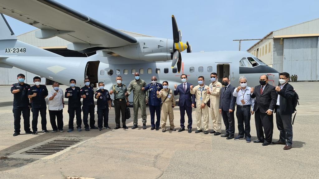 Athan RI Sambut Kedatangan Pesawat CN 235-220 MPA di Senegal