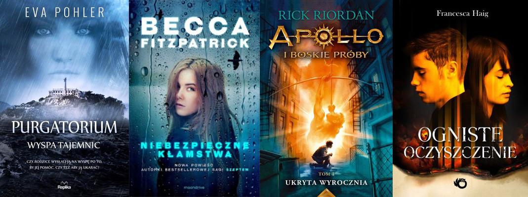 maj 2016, książkowe premiery, Purgatorium Wyspa Tajemnic, Niebezpieczne Kłamstwa, Apollo i boskie próby, Ogniste oczyszczenie
