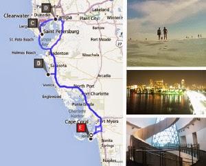 Route Florida Sarasota Siesta Key St Petersburg