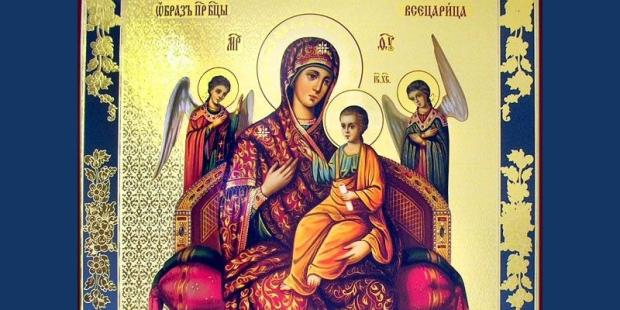 O ícone mariano em favor dos doentes de câncer e aids