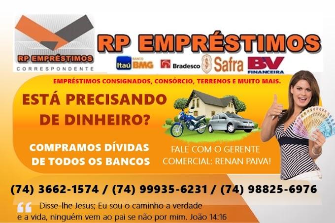 Faça o seu empréstimo ou financiamento RP empréstimos!