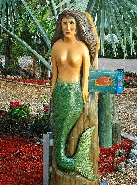 mermaid mailbox