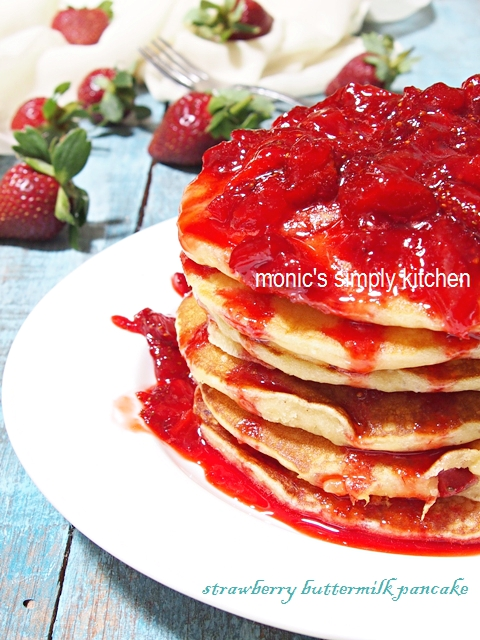 resep strawberry pancake