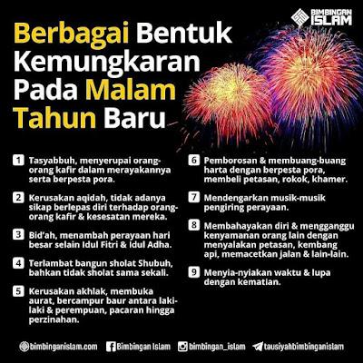 Mewaspadai 10 Kemungkaran Dalam Perayaan Tahun Baru