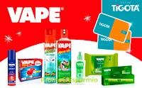 Logo Tenta la fortuna con Vape e vinci 650 gift Card Tigotà da 25€