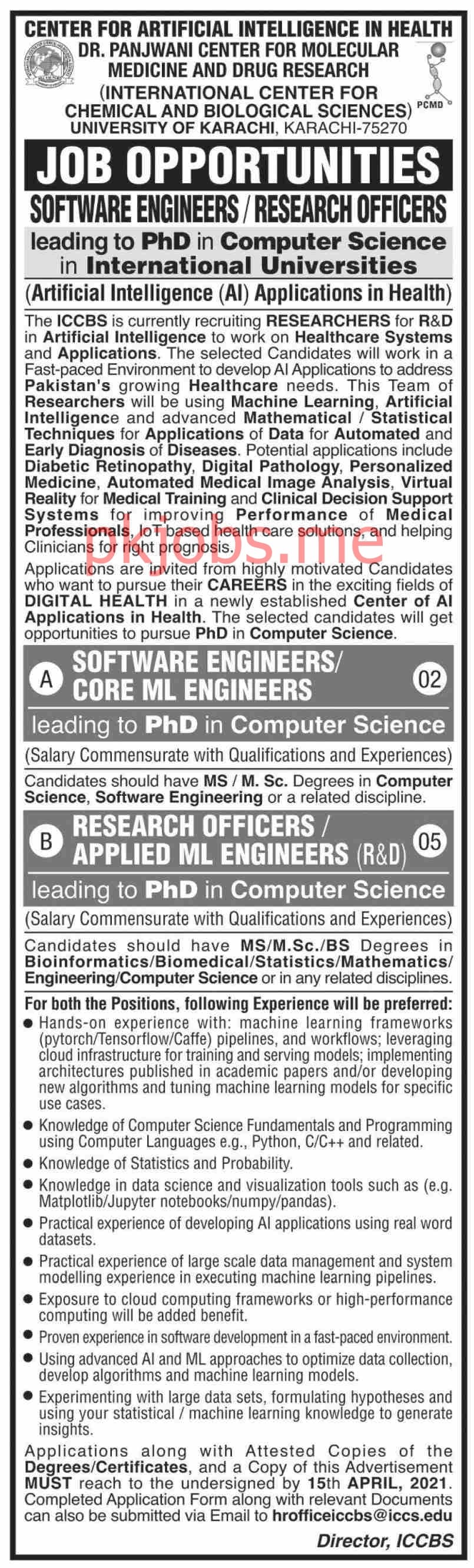 Latest International Center for Chemical & Biological Sciences Engineering Posts 2021