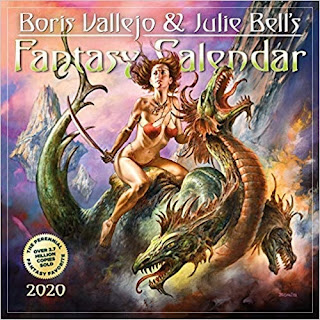 Click here to purchase Boris Vallejo and Julie Bell's Fantasy Calendar 2020 at Amazon!