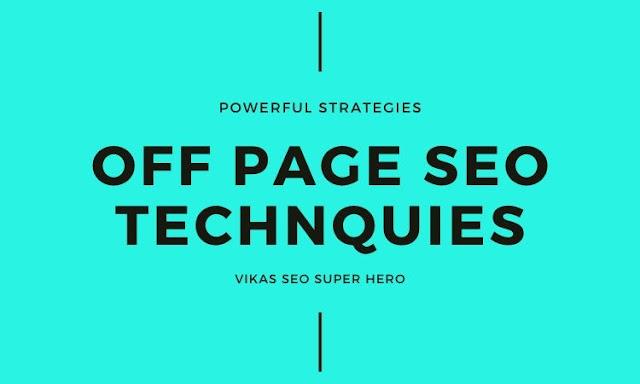 Off Page SEO Techniques to Improve Website Rank - Vikas SEO