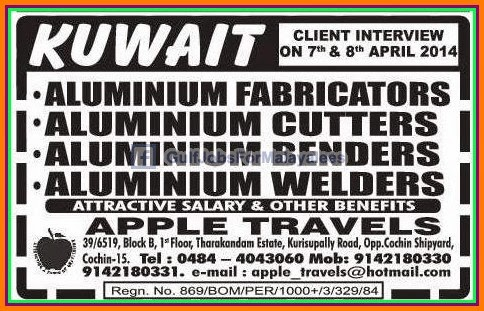 Kuwait Job Vacancies Attractive Salary - Gulf Jobs for